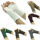 Winter Women Knitted Fingerless Winter Gloves Unisex Soft Warm Mitten Gloves