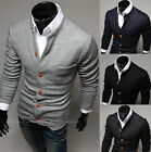 Men Casual Button Fad Slim V-neck Knitted Sweater Jumper Tops Cardigan Tops New