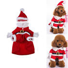 Christmas Santa Claus Dog Pet Cat Clothes Costume Dress Winter Apparel Gift