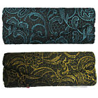 Ladies Bulaggi Lacy Clasp Fastening Clutch Bag in Gold or Blue - 32454.49/70