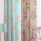 Canterbury  Floral Rose 66x72 Fully Lined Curtains Matches Bedding Set
