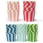 50pcs Cupcake Baking Paper Cup Muffin Cases Stripe Liners Home Wedding Party