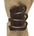 Coffee Cups Napkin Rings by Park Designs, Brown Burl Finish, Choice of Sets