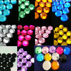 500 Acrylic 7mm Round Faceted Flat Back Rhinestone Craft Pink Blue Pick 10 Color