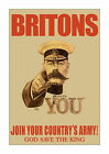 Britons Join Your Army! - Reproduction World War I British Recruiting Poster