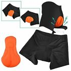 Men Bicycle Cycling Comfortable Underwear Gel 3D Padded Bike Short Pants Black