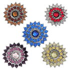 1PC Snap Button Fit Snap Bracelet Rhinestone Sunflower 24mm