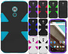 For Motorola Nexus 6 IMPACT TUFF HYBRID Hard Protector Case Phone Cover