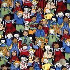 per 1/2 metre/ FQ 100 % cotton CHILDREN OF THE WORLD fabric 54 inches wide
