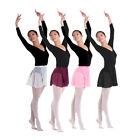 EZI - 4 Color Chiffon Ballet Skirt Dance Skate Wrap over Scarf Dress Sizes M