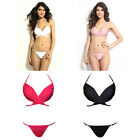 8MI Women Summer Sexy Wrap Halter Top Panty Bikini Set Swimsuit Swimwear Beach