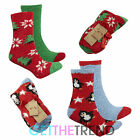 Womens Xmas Novelty Cosy Christmas Socks Stocking Filler Ladies Lounge Slippers