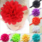 Baby Toddler kids lace Eyelet Flowers Girls Princess Headbands Hair accessory