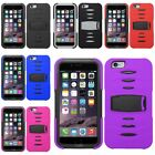Color Rugged Cover Case with Screen Cover Guard for iPhone 6 Plus 5.5 inch