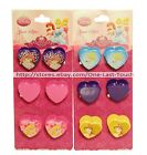 DISNEY PRINCESS* 3pc Mini Jaw Clips HEART SHAPED Kids Hair NEW! *YOU CHOOSE*