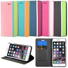 """For iPhone 6 Plus 5.5"""" Leather Fabric Case w/stand w/card slot Wallet Cover"""