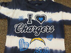 NFL SAN DIEGO CHARGERS GIRLS TYE DYE SHIRT NEW WITH TAGS NICE! $10.39 USD on eBay