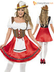 Ladies Oktoberfest Fancy Dress German Bavarian Octoberfest Beer Maid Costume