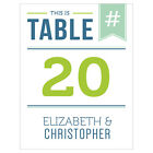 Personalized Smart Type Wedding Table Numbers