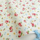 "per 1/2 metre/fat quarter 100 % cotton Ivory ditsy floral fabric  44"" wide 112cm"