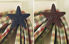 Star Curtain Hooks by Park Designs, Red or Black in Sets of 2, Iron, Choose Set