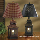 """Iron Lantern Lamp by Park Designs, Choice of Red or Black, 20"""" High, with Finial"""