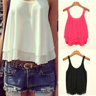 1PC Women Bilayer Sleeveless Shirt Chiffon Loose Vest Tank Tops Reliable