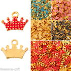 """5PCs Crown Shape Alloy Charms Pendants Gold Plated 9.5mm x12.5mm( 3/8"""" x 4/8"""")"""