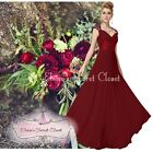 BNWT APHRODITE Berry Red Chiffon Maxi Prom Evening Bridesmaid Dress Sizes 8 - 18