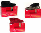 Charter Club In/Outdoor Bootie Slippers Red Leopard Black Free Shipping with Box