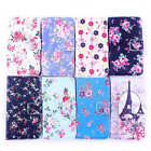 Various Floral Patterned Design Leather Stand Flowers Cover Case For Cellphones