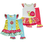 2Pcs Toddler Baby Girls Floral Outfit Holiday Party Top Dress +Leggings Clothes