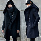 Celebrity WINTER JACKET Mens Korean Fashion Hoodie Coat Parka Long Windbreaker
