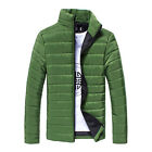 2015 HOT SALE New Men Winter Stand Collar Slim Padded Coat Outwear Down Jacket