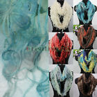 Fashion Women's Broken Butterfly Soft Infinity Loop Cowl Eternity Casual Scarf