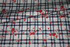 CUSTOM MADE - VW Camper Van Curtains - STRAWBERRY CHECKERS