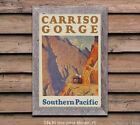 Southern Pacific - Carriso Gorge - Vintage Railroad Travel Poster (reproduction)