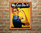 Rosie the Riveter - Reproduction US WWII Propaganda Poster ww2