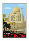 The Taj Mahal - Vintage-Style Travel Poster