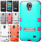 For Samsung Galaxy Mega 2 Rubber IMPACT TUFF HYBRID KICK STAND Case Phone Cover