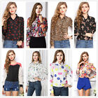 Fashion Womens Summer Casual Chiffon Tops Long Sleeve T-Shirt Blouse Lots Style