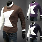 New Men Sweater Jumper Tops Casual Cardigan Pullover Blending Soft Slim Hot