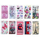 For Various Phone Chic PU Leather ID Card Wallet Defender Stand Folio Cover Case