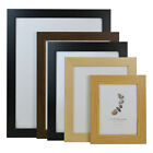 WOODEN PHOTO FRAMES - WALL MOUNTED & STANDING PICTURE FRAME - BLACK OAK WALNUT