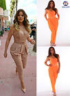 LADIES NEON CELEBRITY STYLE All IN ONE TROUSER HAREM STRAPLESS JUMPSUIT PLAYSUIT