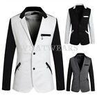 Men's Special Zipper Pocket 2 Button Slim Fit Casual Suit Jacket Blazer WFR