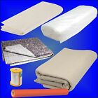 DECORATING DUST SHEETS Polythene Poly Cotton floor covering decorator floor