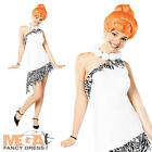 Deluxe Wilma Flintstone + Wig Fancy Dress Ladies Adult Cartoon Character Costume