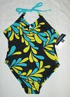 NWT GAP Kids Navy Yellow Teal Keyhole Halter Retro Swimsuit U Pick Size NEW