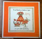 Handmade Personalised Birthday Card Dress Bag Sister in Law 30th 65th 70th Age